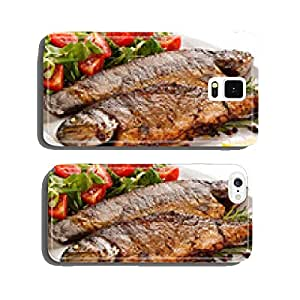 Fish dish - fried fish fillet with vegetables cell phone cover case iPhone6