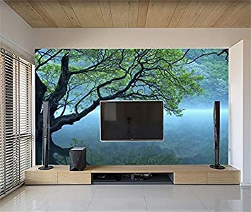 Whian 3D Papel Pintado Mural Sala De Estar Dormitorio Gran Árbol ...