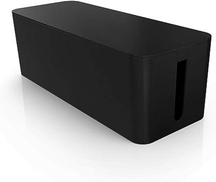 PAZZiMO Caja organizadora cables grande y negra, pasacables protector y seguro, recoge cables de forma inteligente, ordenar cables con la mejor calidad y durabilidad: Amazon.es: Bricolaje y herramientas