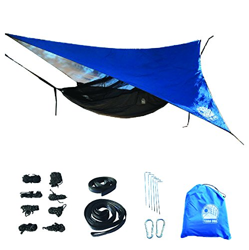 Terra Ora完全にequipped超軽量キャンプハンモックwith Mosquito Net and Rain Fly B077Q3PB91