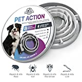 Dog Flea Treatment Collar - ELZU.US [NEW 2018 EFFECTIVE] Flea and Tick Collar for Medium & Large Dogs and Puppies 25-150 LBS - 8 MONTHS Full Protection - Best Prevention Medicine Treatment Anti-Flea Control - Natural EPA