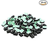 Norjews 20 pcs Adhesive Cable Clips Wire Clips Cable Wire Management Wire Holder Cable Clamps Cable Tie Holder for Car, Office and Home (Black)