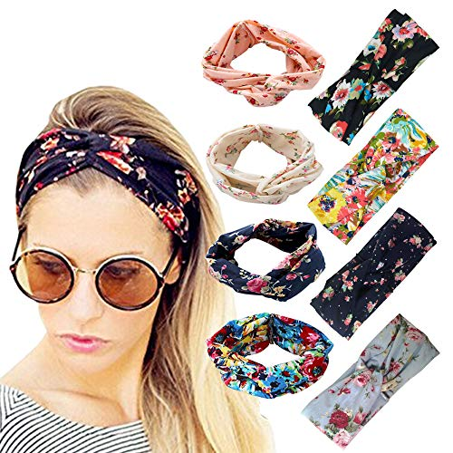 DRESHOW Women's Headbands Headwraps Hair Bands Bows Accessories (8 Pack Classic Cross) ()