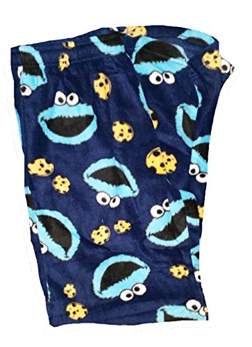 Sesame Street Cookie Monster Fleece Graphic Sleep Lounge Pants - Medium