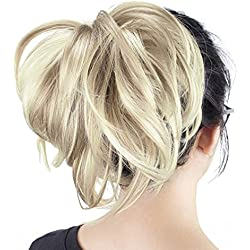 Onedor 12 inch Premium Synthetic Adjustable & Customizable Updo Style Ponytail Hair Extension with Clip on Claw Attachment (H16-613)