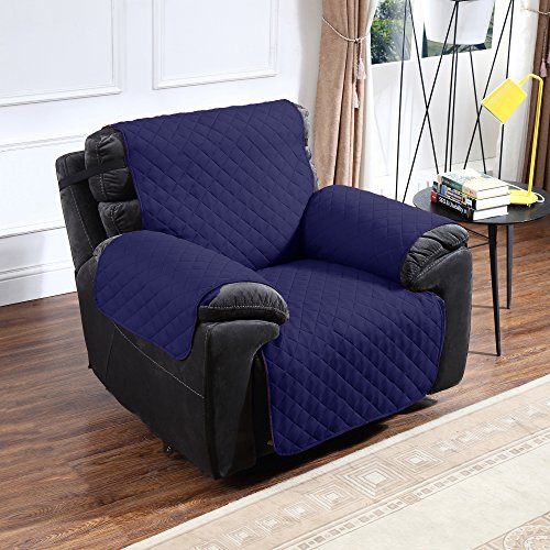 Blue Recliner Cushion - Argstar Reversible Recliner Slipcover for Pets Navy Blue/Gray