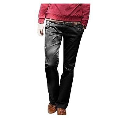 VPASS Pantalones para Hombre, Negocios Pantalones de Traje Moda ...