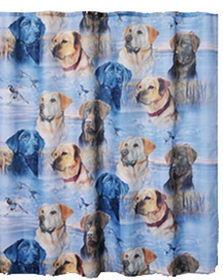 - Labs Element Polyester Shower Curtain