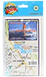 L.A. County Surfing Map Waterproof Surfing Guide by Franko Maps Los Angeles County California Surf Map