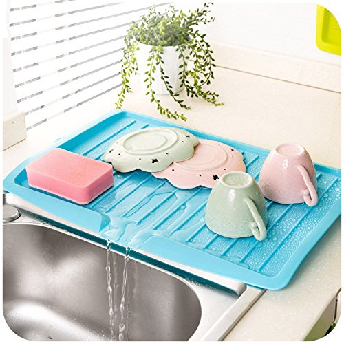 MAZIMARK-Kitchen Holder Tray Dish Plate Plastic Sink Drainer Drying Rack Fruits Washing by MAZIMARK