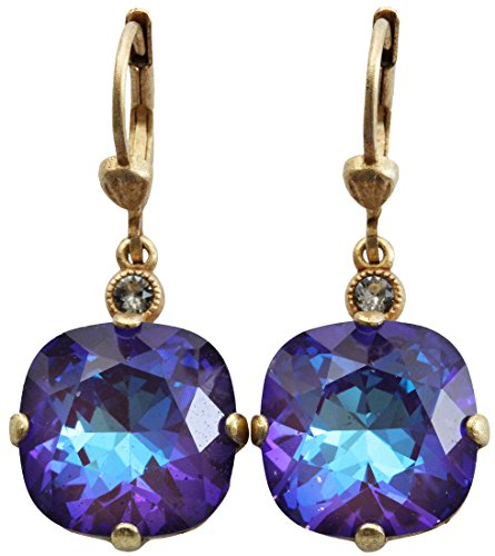 Used, Catherine Popesco Goldtone Crystal Round Earrings, for sale  Delivered anywhere in USA