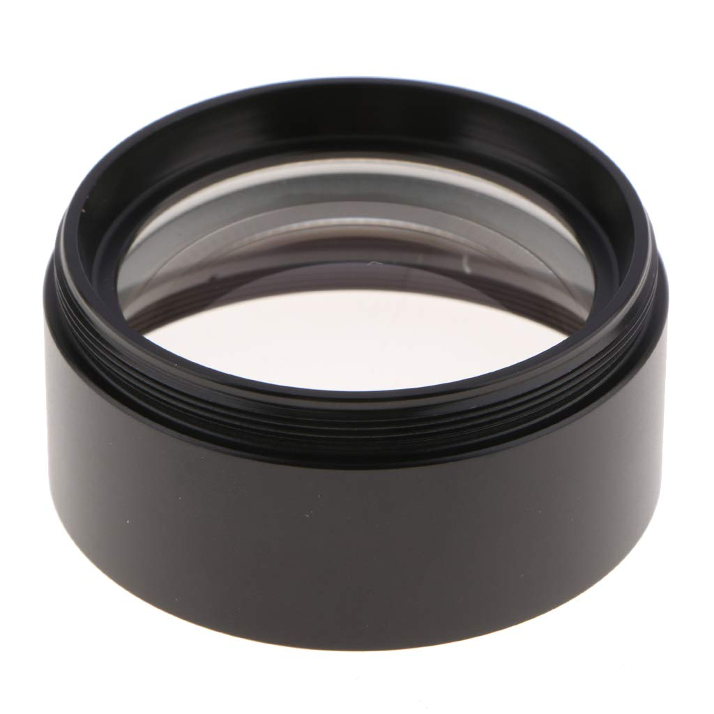 Black,Pack of 1 Baosity 0.75X Barlow Auxiliary Objective Lens Optical Glass for Stero Microscope 48mm Mounting Thread W.D 117mm