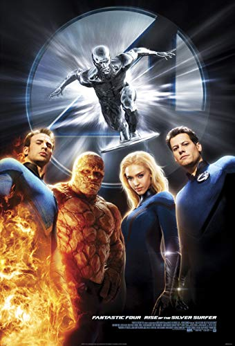 FANTASTIC FOUR RISE OF THE SILVER SURFER MOVIE POSTER 2 Sided ORIGINAL FINAL 27x40 JESSICA ALBA