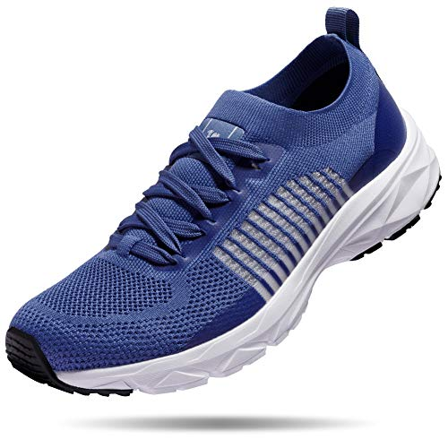 CAMELSPORTS Mens Lightweight Running Shoes Athletic Tennis Slip on Walking Shoes Breathable Casual Fashion Sneakers Blue