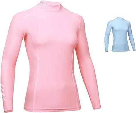 Mhwlai Camisa de protección Solar de Golf de Manga Larga Femenina, Ropa de protección Solar de Verano para Mujer Ropa de Seda de Hielo Camisa de Fondo súper Genial: Amazon.es: Deportes y