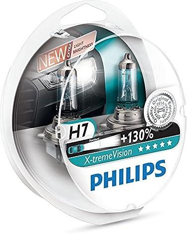 Philips X-treme Vision H7 12 V, 55 W Headlight Bulbs (Pack of 2)