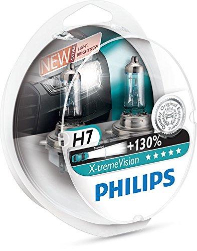 Philips X-tremeVision +130% 12972XV+S2(Verpackung) Scheinwerferlampe, H7, 2er-Set