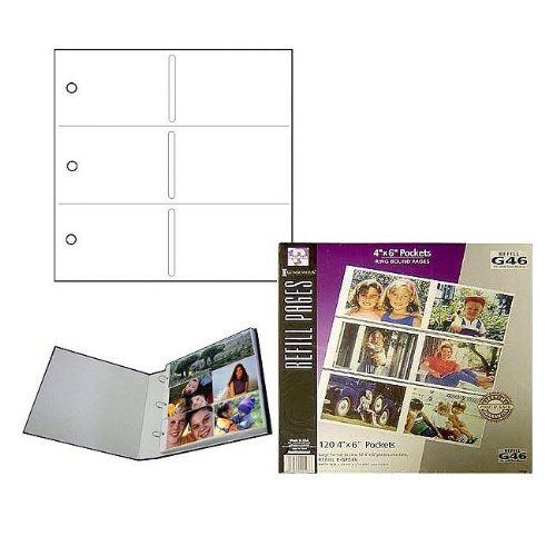 Genuine Holson / Burnes 12-at-a-time album page REFILLS for 3-ring binders Our price is for 6 units - 4x6 by Intercraft