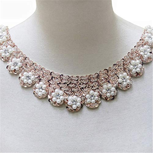 Lace Fabric Trim Sew On Dress Clothing Applique Motif Blouse Sewing Emboridery DIY Neckline Collar Costume Decoration 5