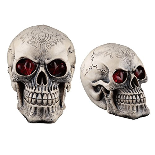 Inhaler Halloween Costume (TIFENNY Halloween Decorations Wacky Funny Novelty Resin Shiny Skull Toys (C))