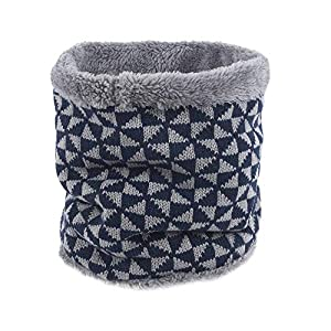 URIBAKE Unisex Ring Cowl Pattern Knitted Elastic Scarf Scarves Headband Winter Neck Warmer