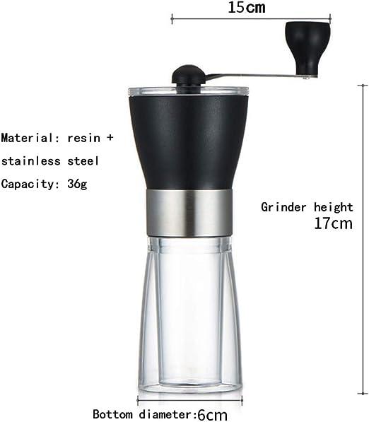 Molinillo De Café Manual De Grano Entero 36G, Mini Molinillo De ...