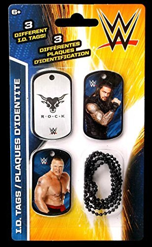 WWE Wrestlers Roman Reigns & Brock Lesnar ID Dog Tags Series 2 - Set G - 3 Count (Roman Reigns Child)