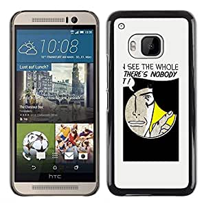 LECELL -- Funda protectora / Cubierta / Piel For HTC One M9 -- Funny Hole Message --