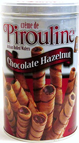Creme De Pirouline All Natural Cream Filled Chocolate Hazelnut Rolled Wafers ()