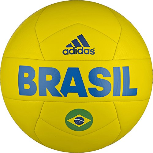 adidas Performance Copa 2016 Capitano Brazil Soccer ball, 5, Bright Yellow/Shock Blue/Real Green
