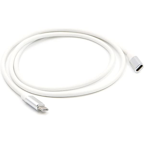 Generic 1 Meter USB Type C Extension Cable USB 3.1 USB-C Male to Female Extending Wire Extender Cord Connector Dock Grey 1m