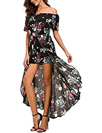Womens Sleeveless Scoop Neck Floral Rayon Party Split...