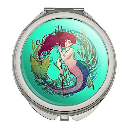 ent Circle Art Nouveau Kelp Compact Travel Purse Handbag Makeup Mirror ()