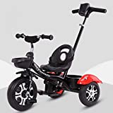 QXMEI Children's Tricycle 1-3-5-2-6 Year Old Bicycle Lightweight Baby Stroller,Black1