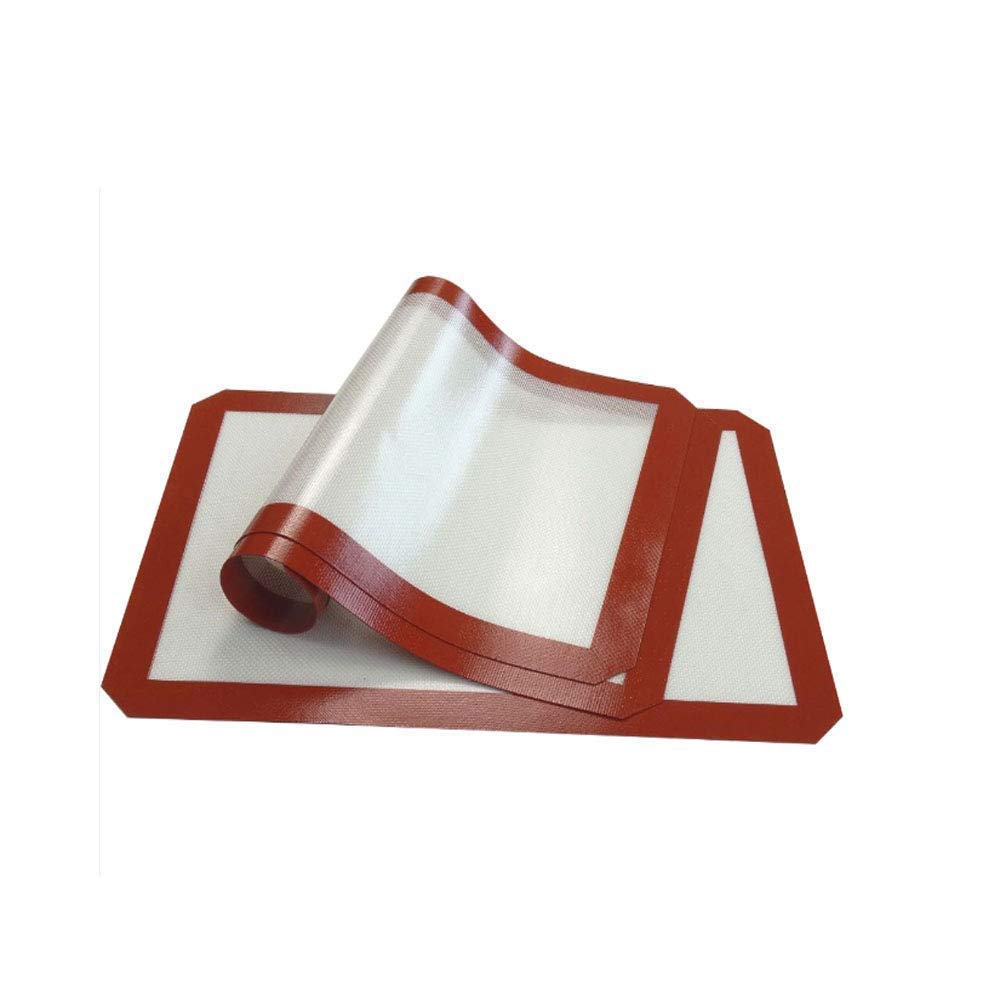 resistencia a la temperatura Alfombrilla de silicona para hornear 42x29.5cm antiadherente Juego de 3, forro de silicona antiadherente para moldes para hornear y laminados Pasteler/ía -40 + 300F