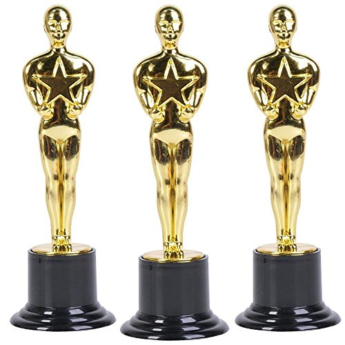 Oscar Star Trophies for Award Ceremonies or Parties 6 High - Perfect Achievement Awards or Birthday Gifts for Kids and Adults
