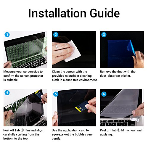 Tembin 15.6 inch Matte Laptop Eye Screen Protector Guard for Display 16:9 Notebook Computer Film Anti-Glare / Anti-Scratch / Anti-Blue Light Laptop Protective by Tembin (Image #5)