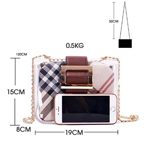 Waterproof Top Cosmetic bag Bags Cosmetic Bag White Bag For Clear with Ladies PVC HPASS Shoulder Handle CwXUAfxqn