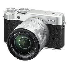 Fujifilm X-A10 Mirrorless Digital Camera w/XC16-50mmF3.5-5.6 OISII Lens-Silver