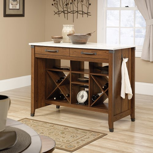 sauder-carson-forge-kitchen-cart-gourmet-station