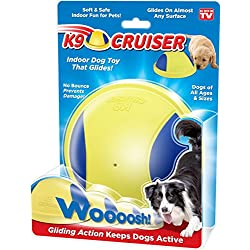 K9 Cruiser: Indoor Dog Toy That Glides, Squeaky Toy, Dog Chew Toys, Small Dogs and Large Dogs