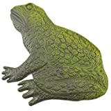 Frog Stepping Stone Yard and Garden Decor Green Cast Iron Large 12.75″