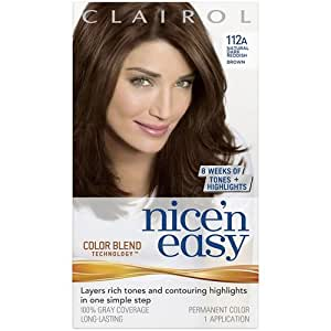 Amazon.com: Clairol Nice n Easy Hair Color, Natural Dark Reddish Brown 112A: Health