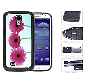 Pink Gerbera Daisy Flowers 2-Piece Dual Layer High Impact Rubber Silicone Cell Phone Case Samsung Galaxy S4 SIV I9500 by icecream design