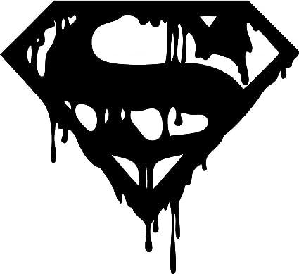 Indiashopers Bloody Black Dark Superman Symbol Windows Sides Hood