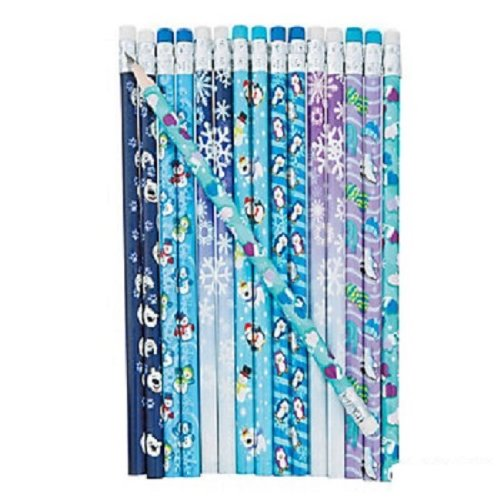 Pattern Pencils Erasers Penguin Snowflake product image