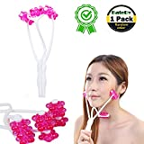 Facial Exercises To Lose Cheek Fat - KateDy Face Up Roller Massager Facial Body Spa Massage, Lose Face Fat to Creat V Shape Face Small Faces Slimmer, Thin Face Lift Plastic Massager Manual Massage Beauty Tool for Women Girls