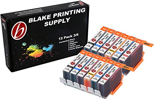 12 Pack Blake Printing Supply BCI6 Ink Cartridges Canon BJC-8200 PIXMA iP6000D S800 S820 S820D S830D S900 S9000 i900D i9100 i950 i960