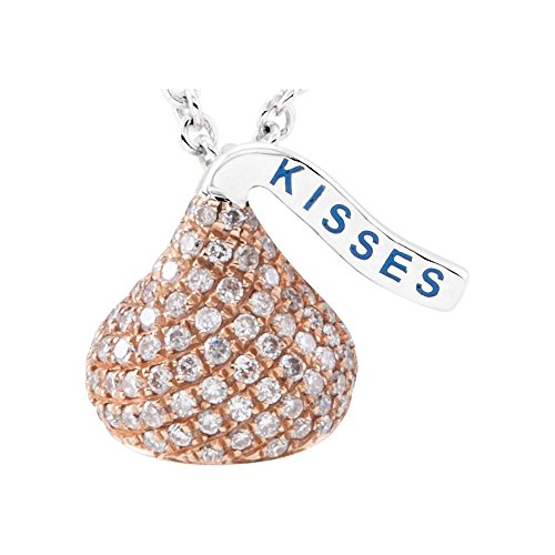 14kt Rose HERSHEY'S KISSES Flat Back 1/3