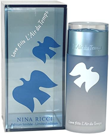Love Fills L Air Du Temps By Nina Ricci For Women. Eau De Toilette Spray 3.4 Oz Limited Edition.